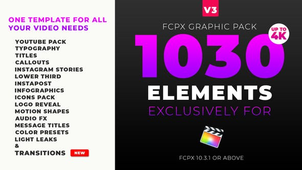 FCPX Mega Graphics Pack by IronNetwork | VideoHive