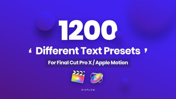 Animated Text Presets for Final Cut Pro and Apple Motion by Pixflow