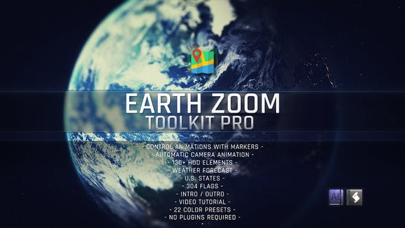 Videohive Earth Zoom Toolkit Pro 23319578 Free Download