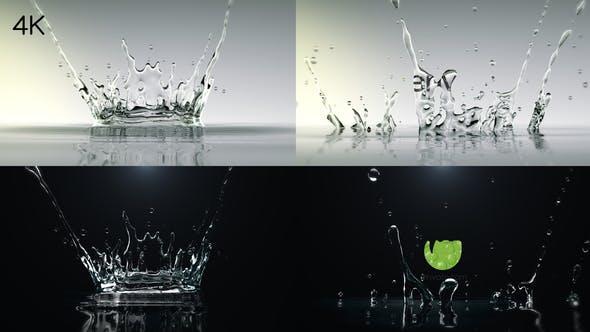 9b6c061681d7 Water Drop Splash Logo by chinmay3d