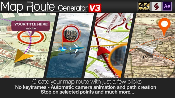 Map Route Generator by marcobelli | VideoHive