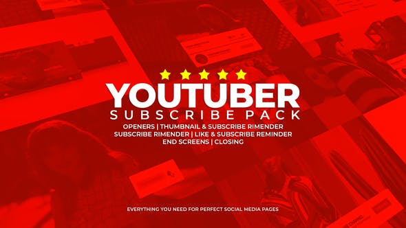 Youtuber Subscribe Pack 23490765 Videohive - Free Download