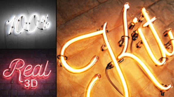 Real 3D Neon Kit by NeuronFX | VideoHive