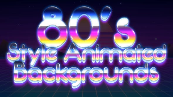 80's Style Animated Backgrounds by Negative_H | VideoHive