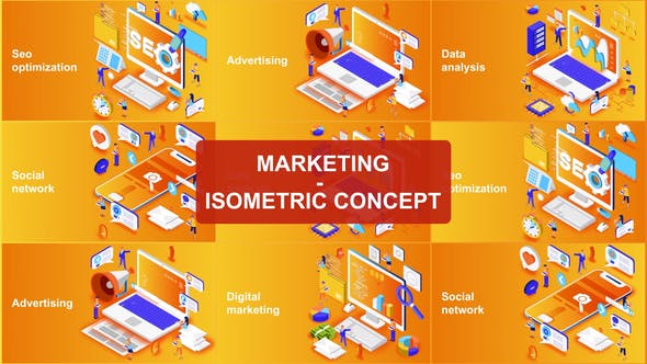 VideoHive | Marketing Isometric - AE TEMPLATES
