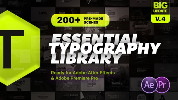 Essential Typography Library - Mogrt For Premiere Pro - VideoHive product image