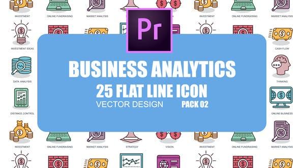 Business Analytics - Flat Animation Icons (MOGRT) by IconsX