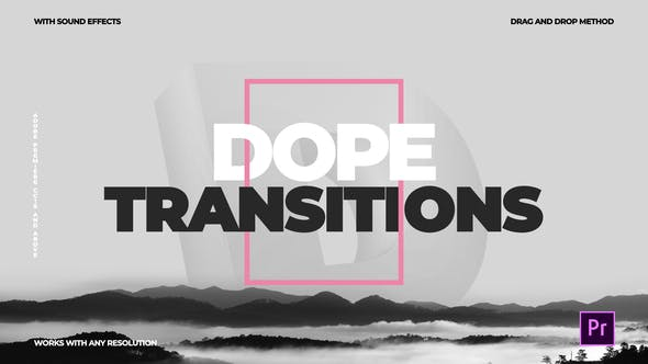 Dope Transitions | For Premiere Pro by CandyMustache | VideoHive