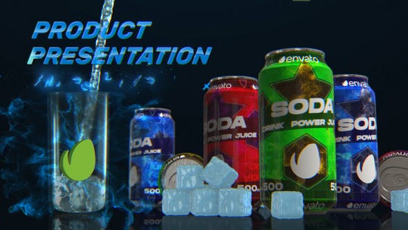 Soda CommercialCan and Bottle
