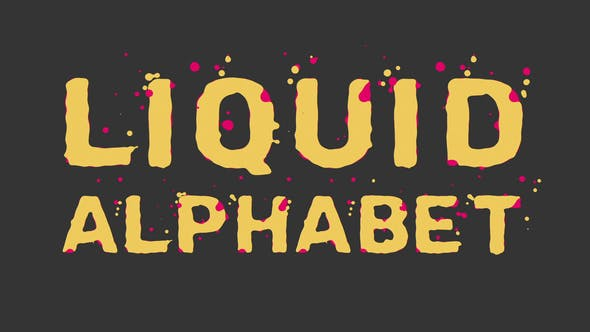 Videohive Liquid Alphabet 23754381 Free Download