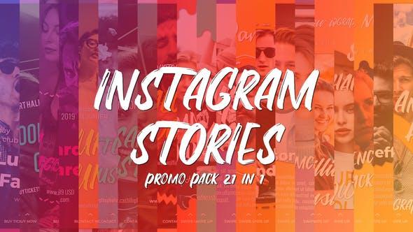 Instagram Stories Promo Pack 21 in 1 by AurJas | VideoHive