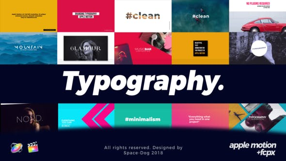 Modern Typography | Final Cut Pro by Space-Dog | VideoHive