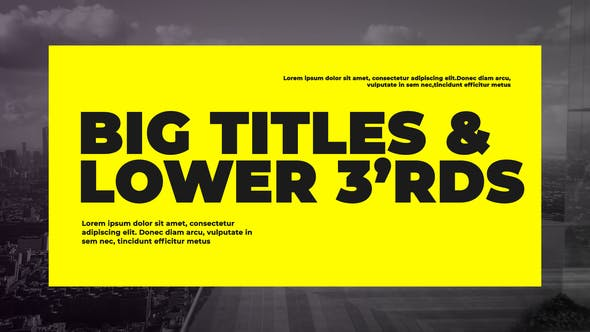 Videohive Corporate Big Titles Free Download