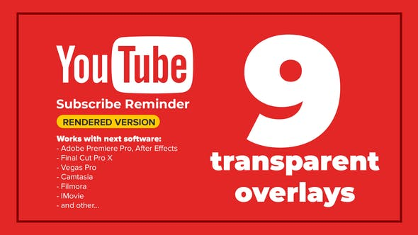 YouTube Subscribe by templatesbravo | VideoHive
