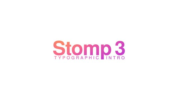 Videohive Stomp 3 – Typographic Intro Free Download