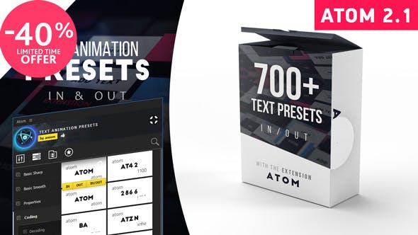 Videohive Text Presets | Atom free Download