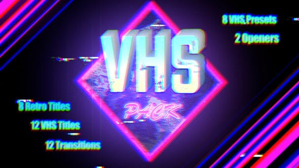 VHS Pack | Final Cut by BobJacksonHive | VideoHive