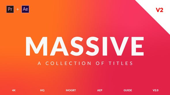 Massive v2 | Titles Pack For Premiere Pro and After Effects
