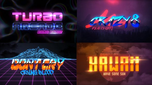 80S 4 Pack Logo Intro by iconoclast | VideoHive