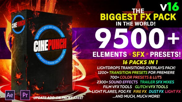 CINEPUNCH - Biggest FX Pack in the World! by PHANTAZMA | VideoHive