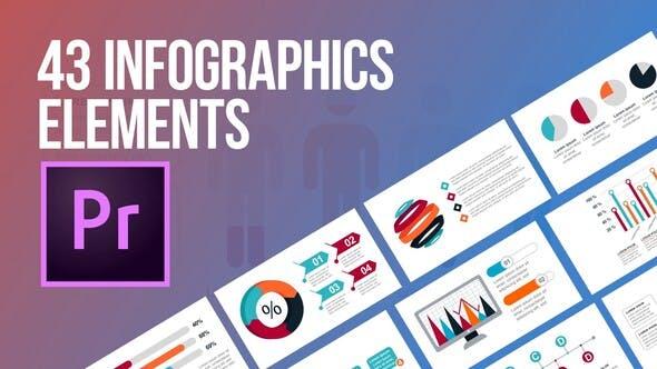 Videohive - 43 Infographics Elements (MOGRT)