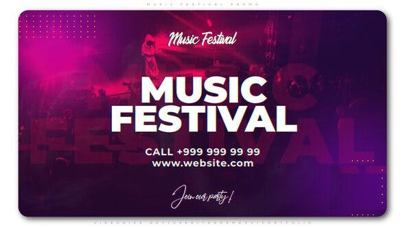 Videohive Music Festival Promo 24305730 Free Download