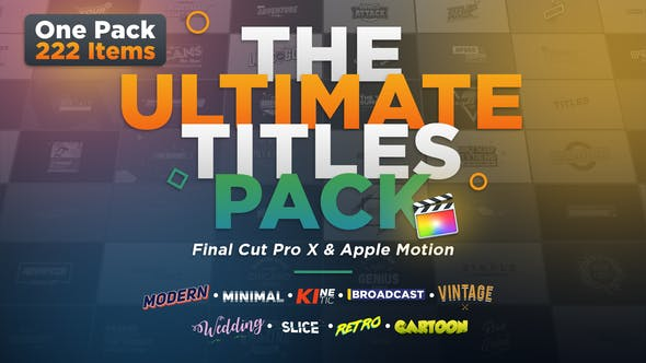 The Ultimate Titles Pack - contender for best final cut pro titles plugin