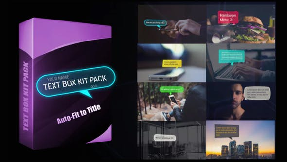 Videohive Text Box Kit Pack Free Download