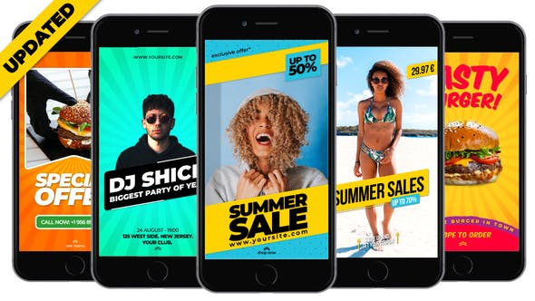 Fresh Instagram Stories by DrMotion | VideoHive