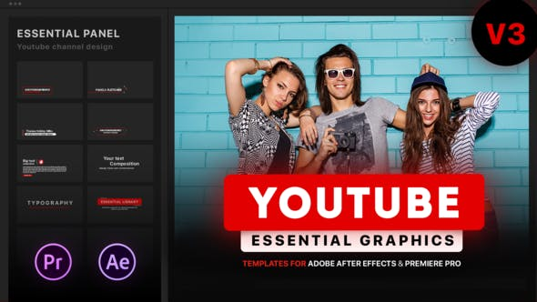 Youtube Essential Library | MOGRT for Premiere by EasyEdit