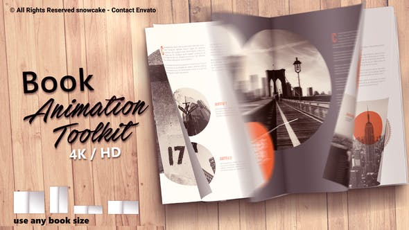 Book Animation Toolkit by snowcake | VideoHive