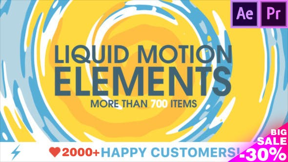Liquid Motion Elements by TRMG | VideoHive