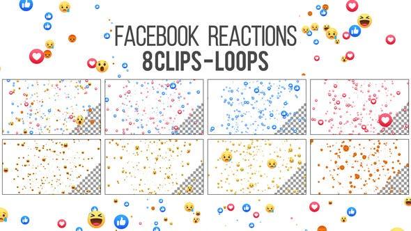 Facebook Reactions Loop - 8 Clips - 4K by VF | VideoHive