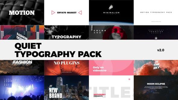 VideoHive |Quiet Typography Pack