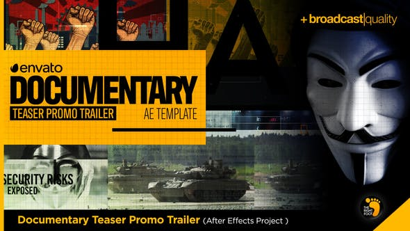 Videohive Documentary Teaser Promo Trailer Free Download