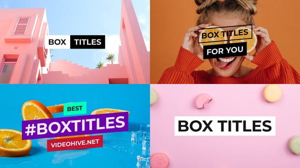 BOX TITLES AND LOWER THIRDS