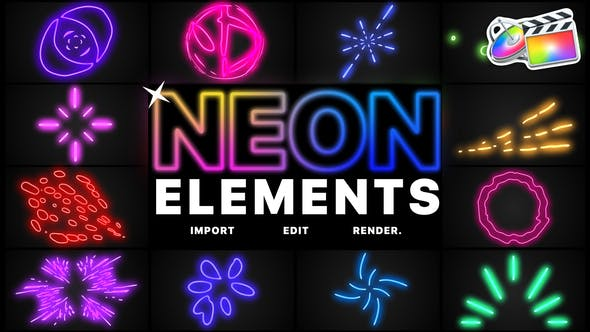 Neon Elements | FCPX by MisterFlashAnimation | VideoHive