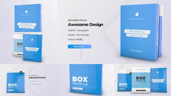 Videohive Box Product Pack Mockup – Box Software Mock-up Cover Template Free Download