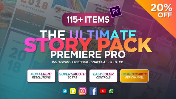 Videohive The Ultimate Story Pack Premiere Pro ( Last Update 28 October 19 ) 23557778 Free