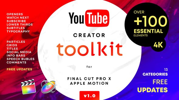 VIDEOHIVE YOUTUBE FCPX CREATOR TOOL KIT