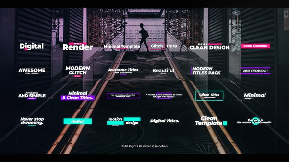 Videohive Digital Glitch Titles 25119005 Free