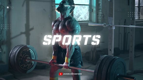 Videohive Sport Youtube Channel Opener / Glitch Fitness and Workout Free Download