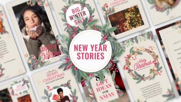 Videohive New Year Stories Free Download