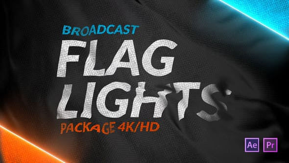 Videohive Broadcast Flag Lights Free Download