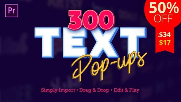 Videohive Text Popups – Premiere Pro Free Download