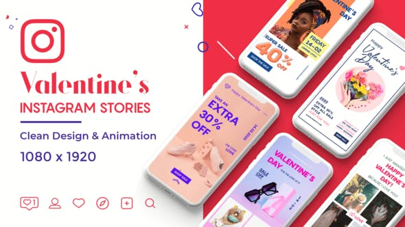 Videohive Valentine Instagram Stories Free Download