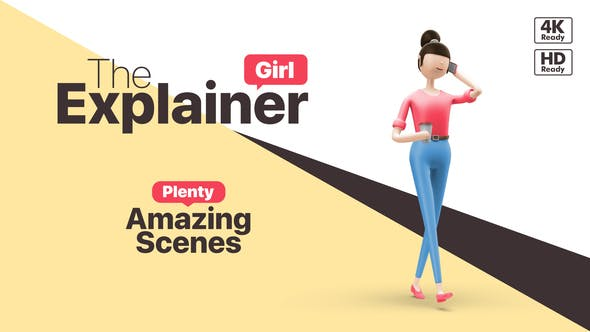 Videohive The Explainer Girl Free Download