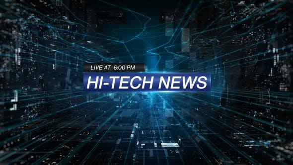 Videohive Hi-Tech News Free Download