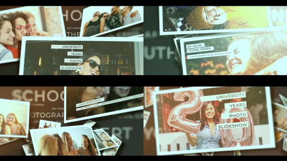Videohive School Years Photo Slideshow Free Download