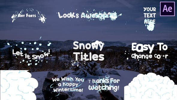 Videohive Snow Titles | After Effects Free Download